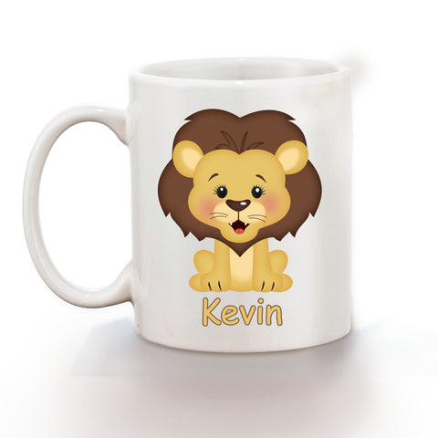 At the Zoo Lion Kids Mug
