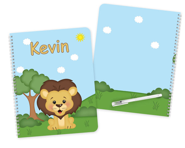 At the Zoo Lion Kids Notebook