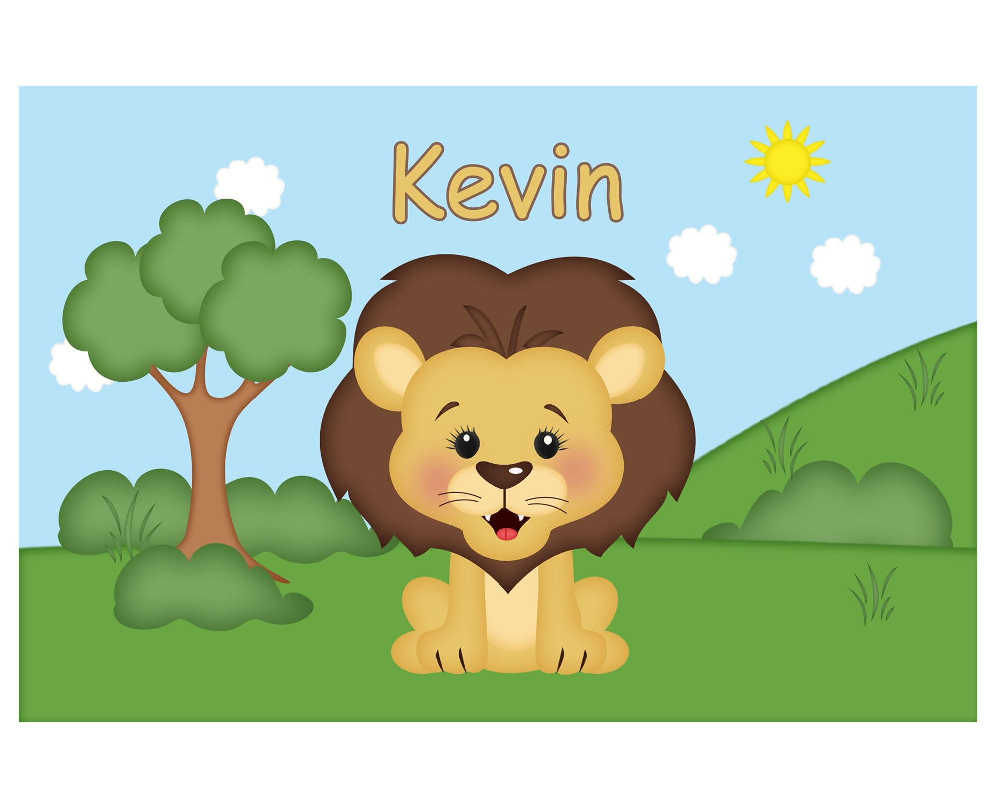 At the Zoo Lion Kids Placemat