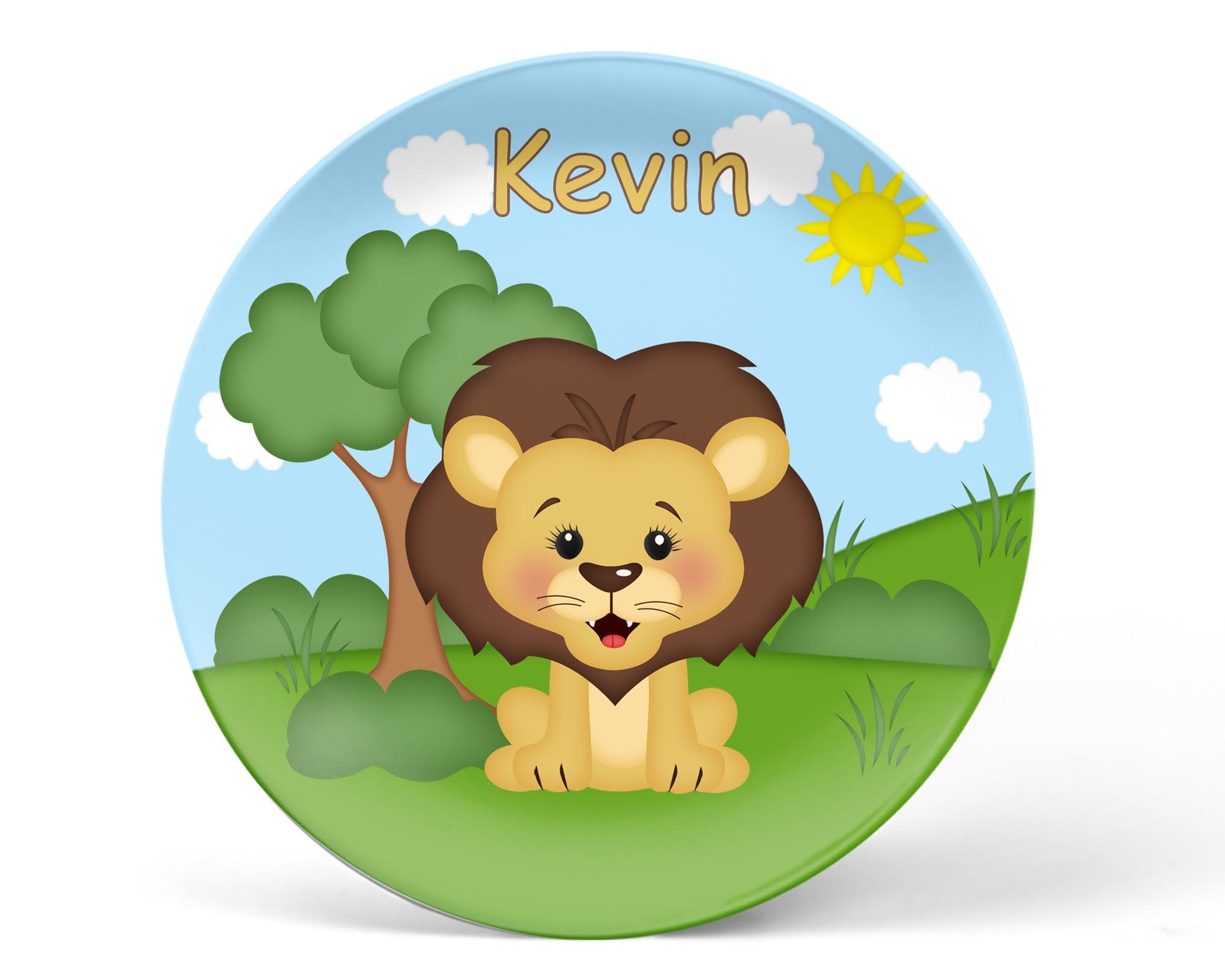 At the Zoo Lion Kids Plate