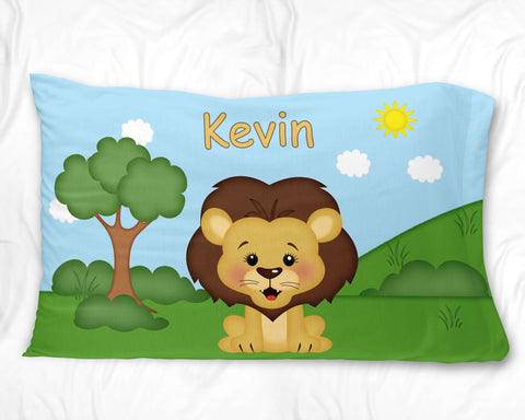 At the Zoo Lion Pillow Case