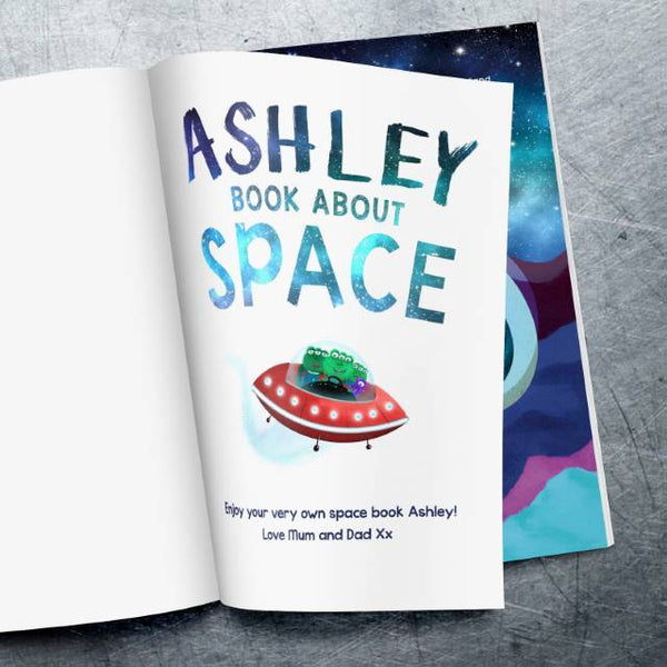 Personalized My Book About Space Book