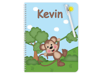 At the Zoo Monkey Kids Notebook