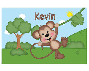 At the Zoo Monkey Kids Placemat