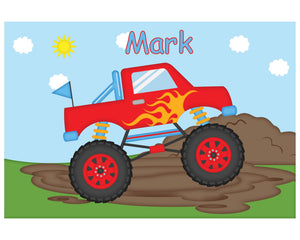 Monster Truck Kids Placemat