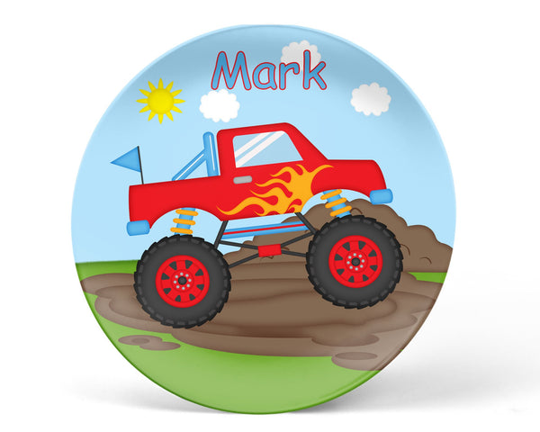 Monster Truck Kids Plate