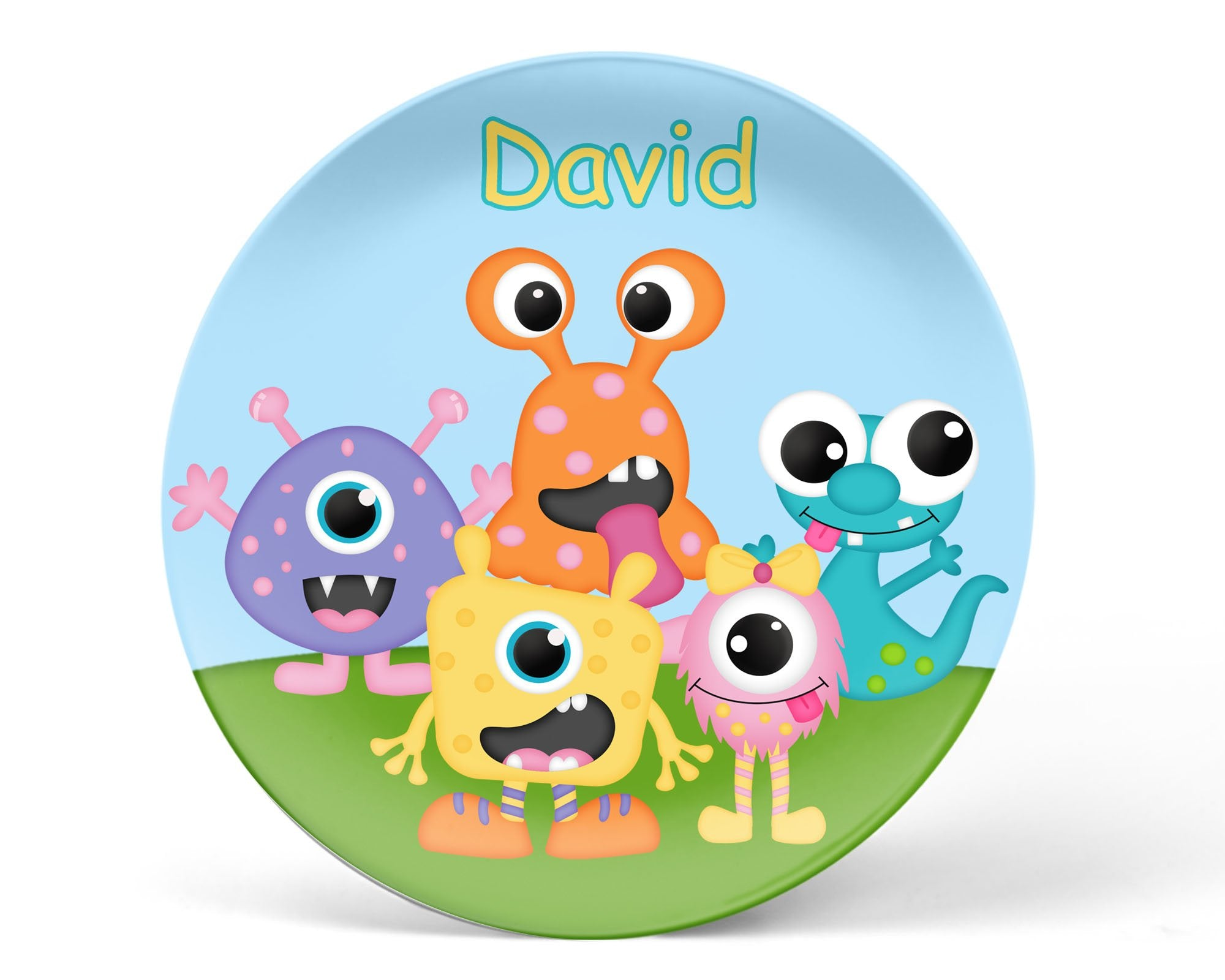 Silly Monsters Kids Plate