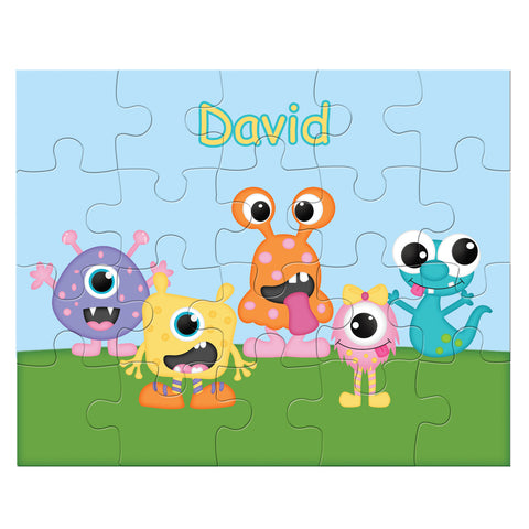 Silly Monsters Kids Personalized Puzzle