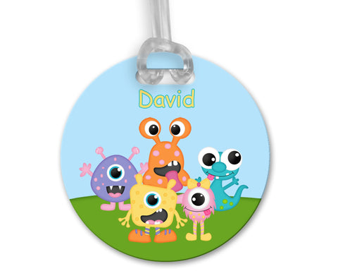 Silly Monsters Bag Tag