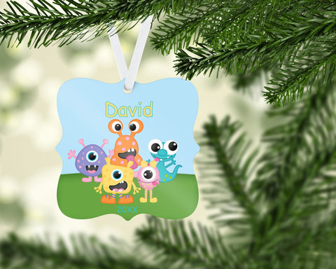 Little Monsters Personalized Christmas Ornament