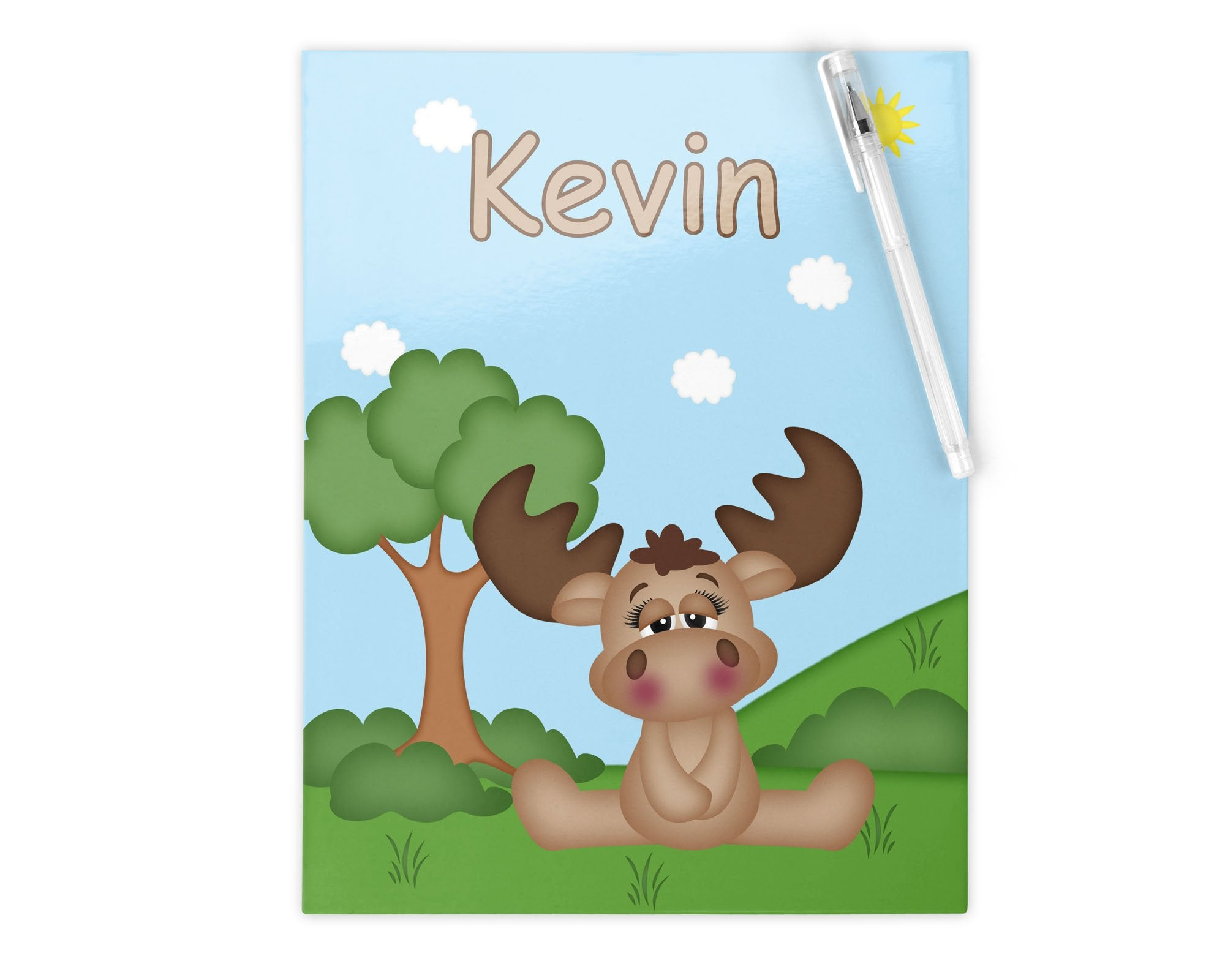 Cute Woodland Moose Kids Folder