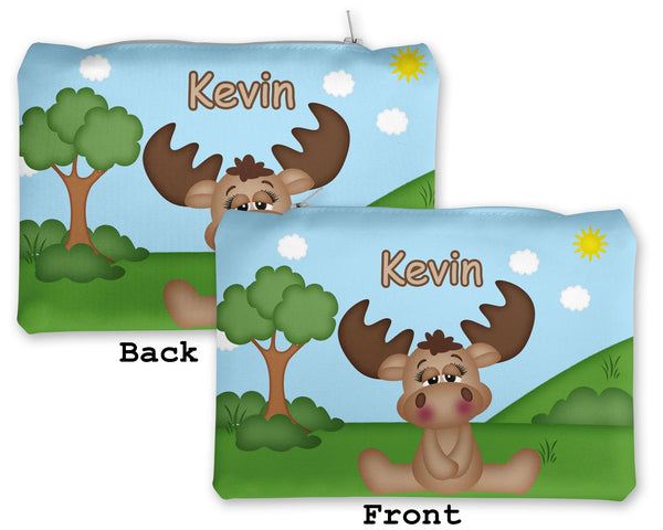 Cute Woodland Moose Kids Pencil Case