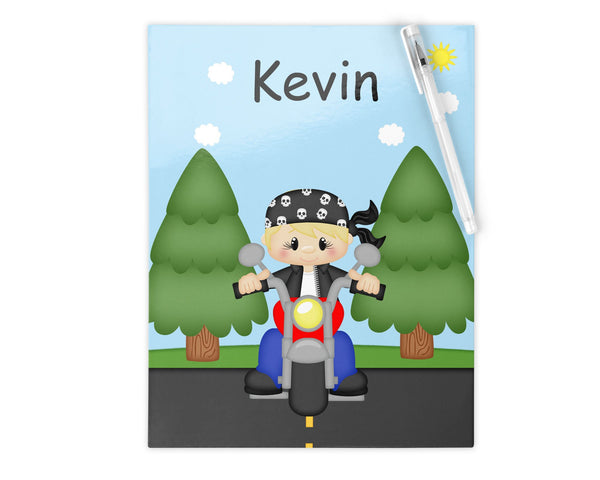 Motorcycle Boy Kids Notebook