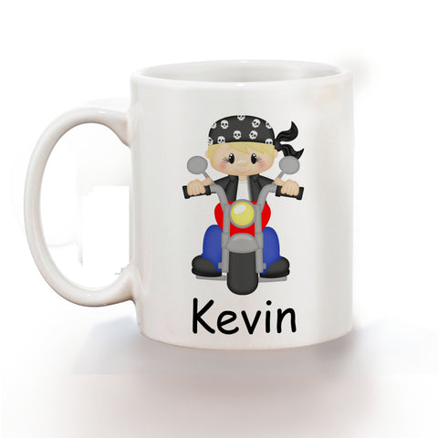 Motorcycle Boy Kids Mug
