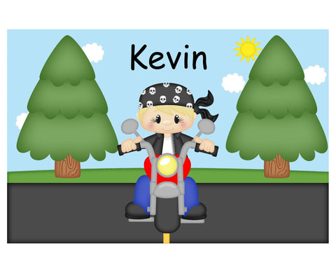 Motorcycle Boy Kids Placemat