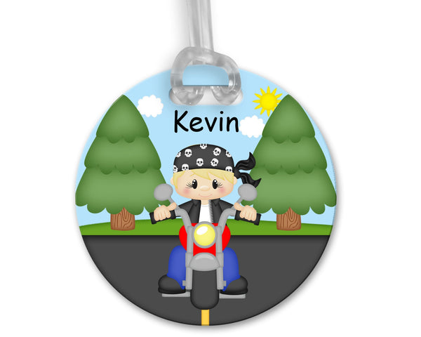 Motorcycle Boy Bag Tag