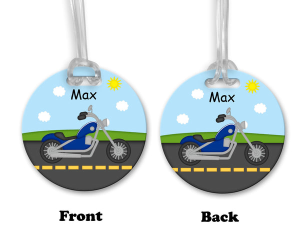 Lets Ride Motorcycle Bag Tag