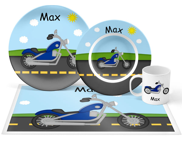 Lets Ride Motorcycle Kids Placemat
