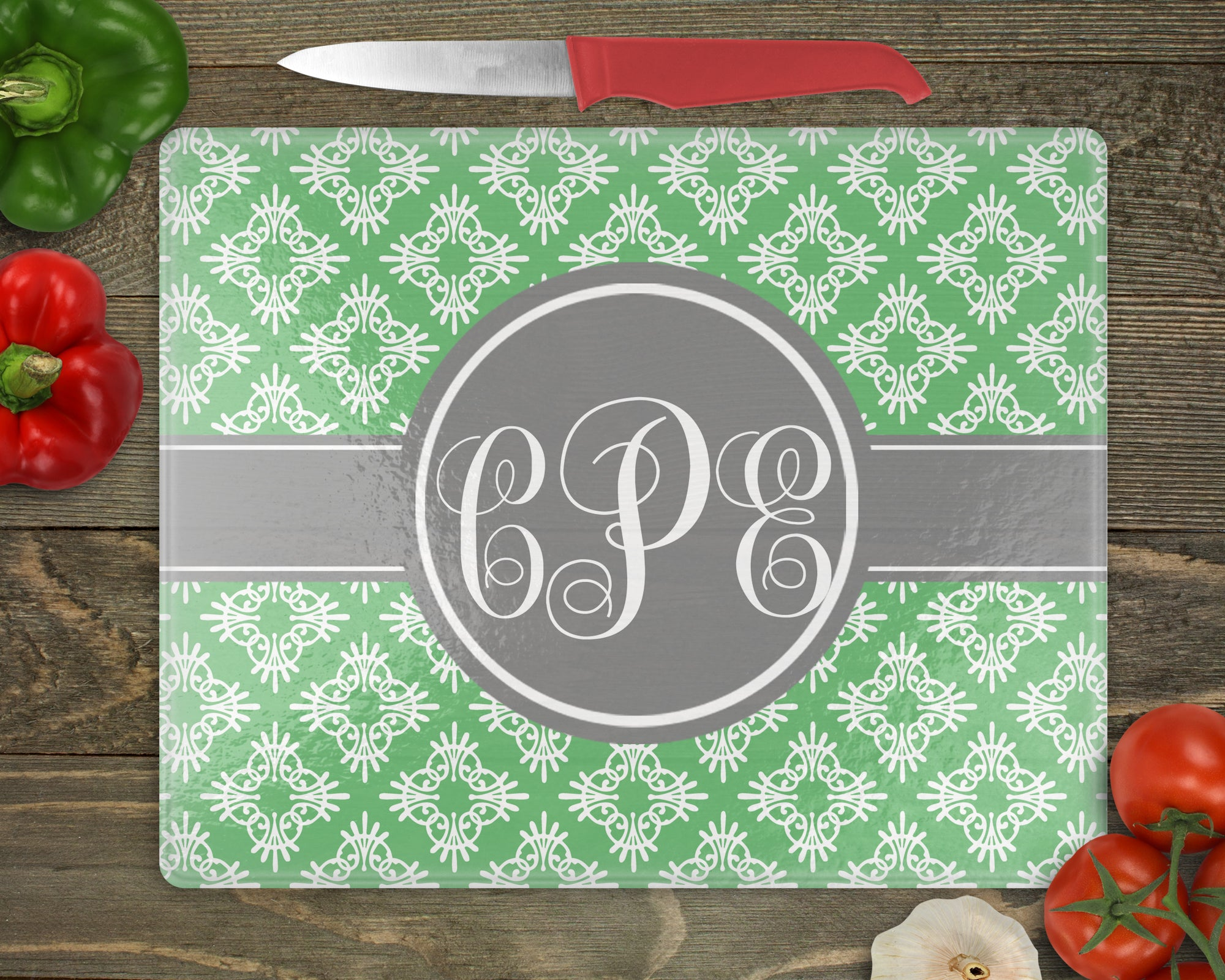Ornamental Flowers Personalized Cutting Board