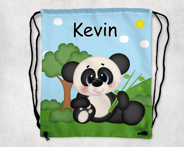 At the Zoo Panda Drawstring Bag
