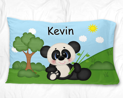 At the Zoo Panda Pillow Case
