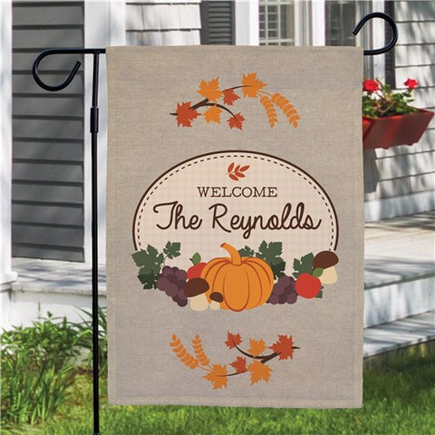 Autumn Personalized Garden Flag