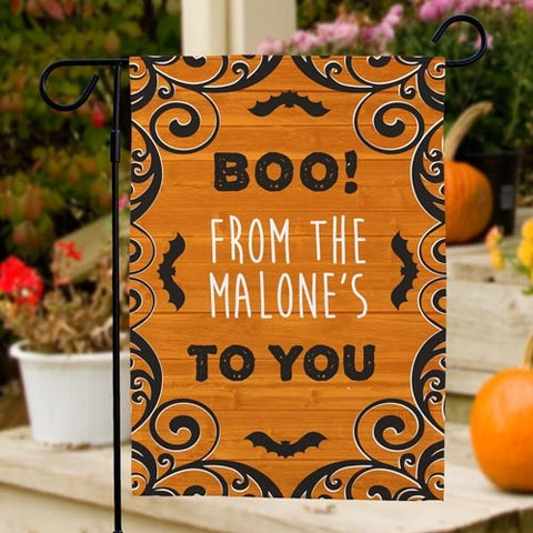 Boo To You Personalized Garden Flag