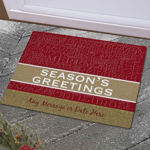Christmas Words Personalized Doormat