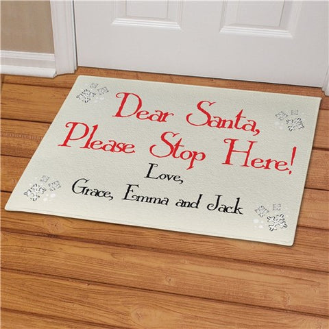 Dear Santa Personalized Doormat