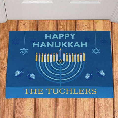 Personalized Happy Hanukkah Personalized Doormat