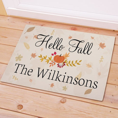 Hello Fall Personalized Doormat