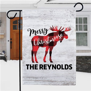 Merry Christmoose Personalized Garden Flag