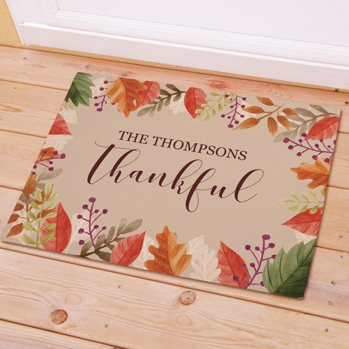 Thankful Personalized Doormat