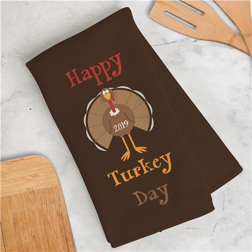 Thanksgiving Personalized Dish Towel