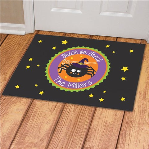Trick Or Treat Spider Personalized Doormat