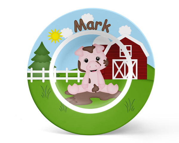 On the Farm Pig Kids Plate