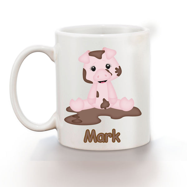 On the Farm Pig Kids Mug