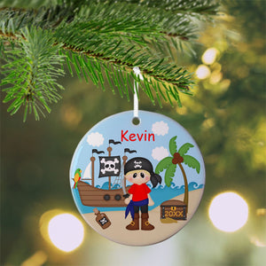 Pirate Boy Christmas Ornament