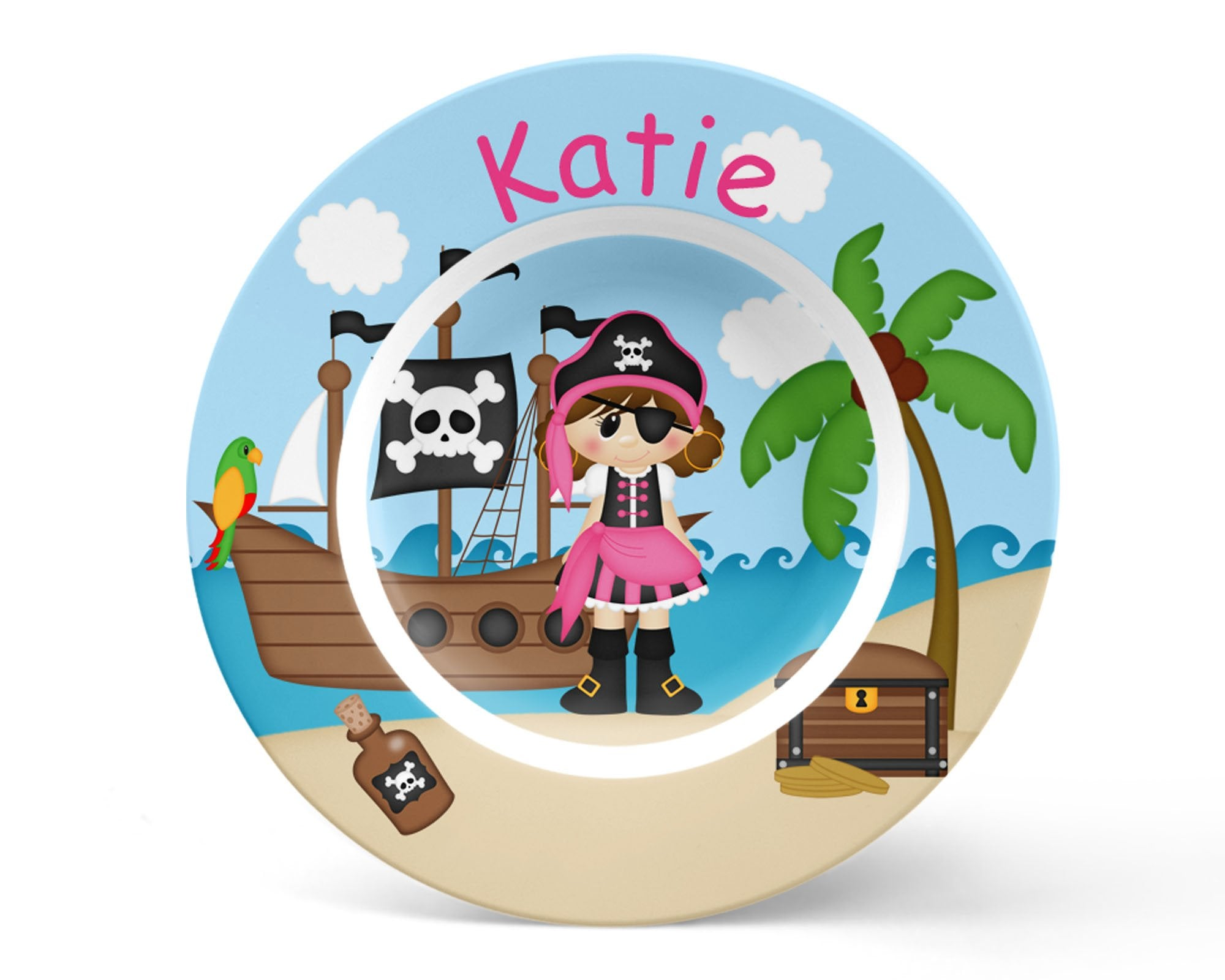 Pirate Girl Kids Bowl