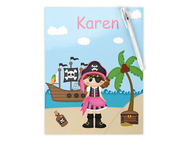 Pirate Girl Kids Notebook