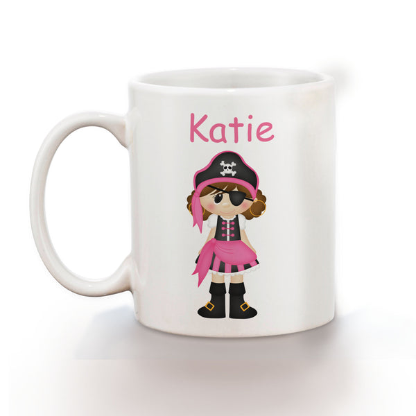 Pirate Girl Kids Mug