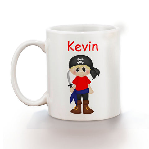 Pirate Boy Kids Mug