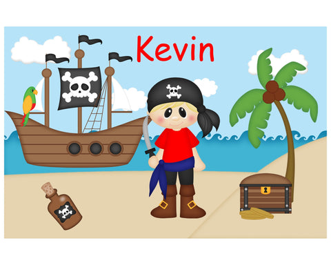 Pirate Boy Kids Placemat