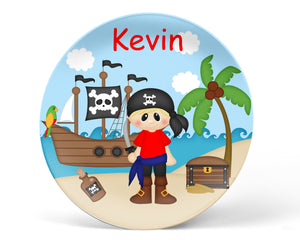 Pirate Boy Kids Plate