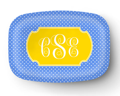 Poka Dots Personalized Platter