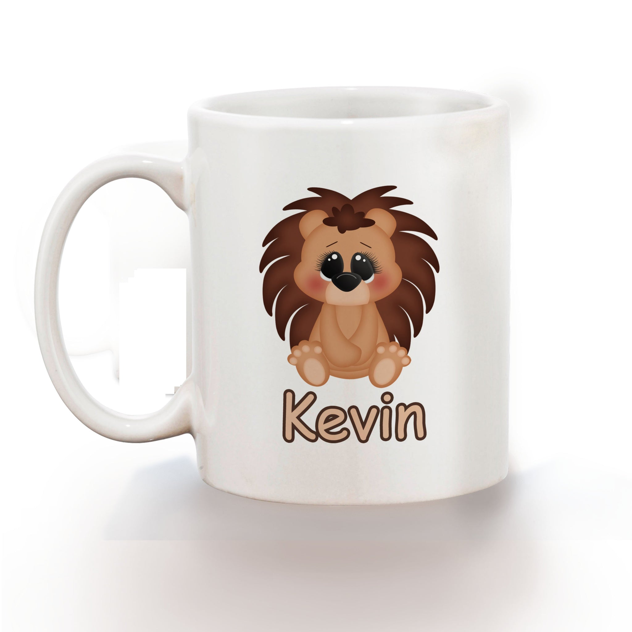 Cute Woodland Porcupine Kids Mug