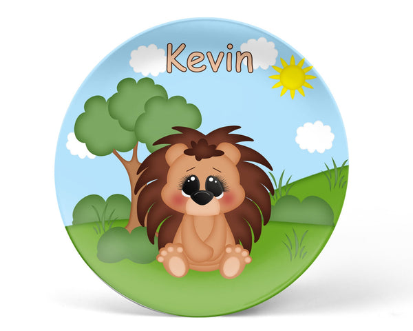 Cute Woodland Porcupine Kids Bowl