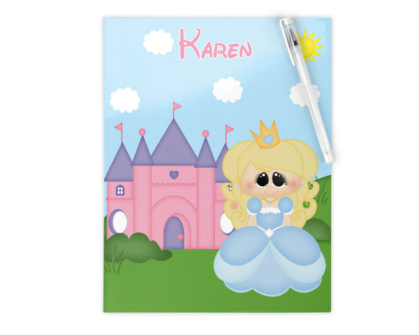 Princess Blue Kids Notebook