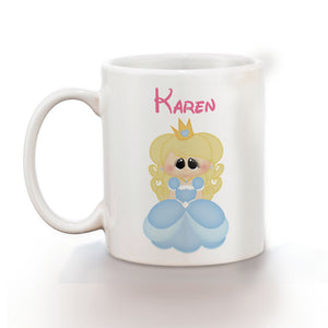 Princess Blue Kids Mug