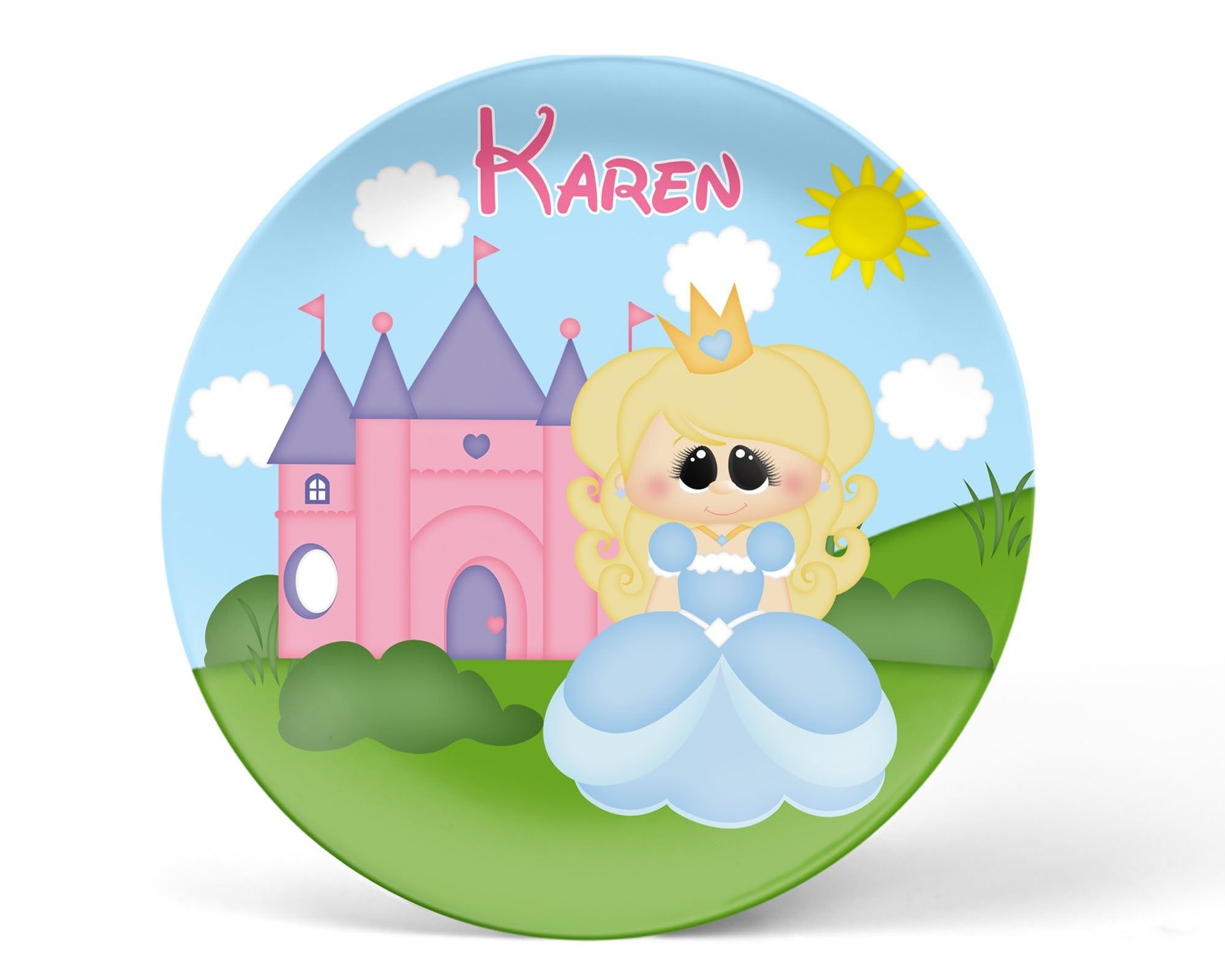 Princess Blue Kids Plate